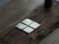 「茶桌上的器物们」金工手作洋白铜壶承 铜杯垫 壶台