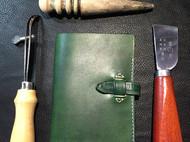 极简复古绿护照夹