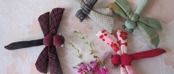 diy手工布艺教程:制作可爱的布蜻蜓(附简单图纸)