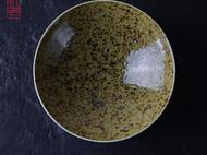 【隐机者】森境 绿釉铁斑斗笠盘景德镇陶瓷手工拉胚中式汤菜深盘