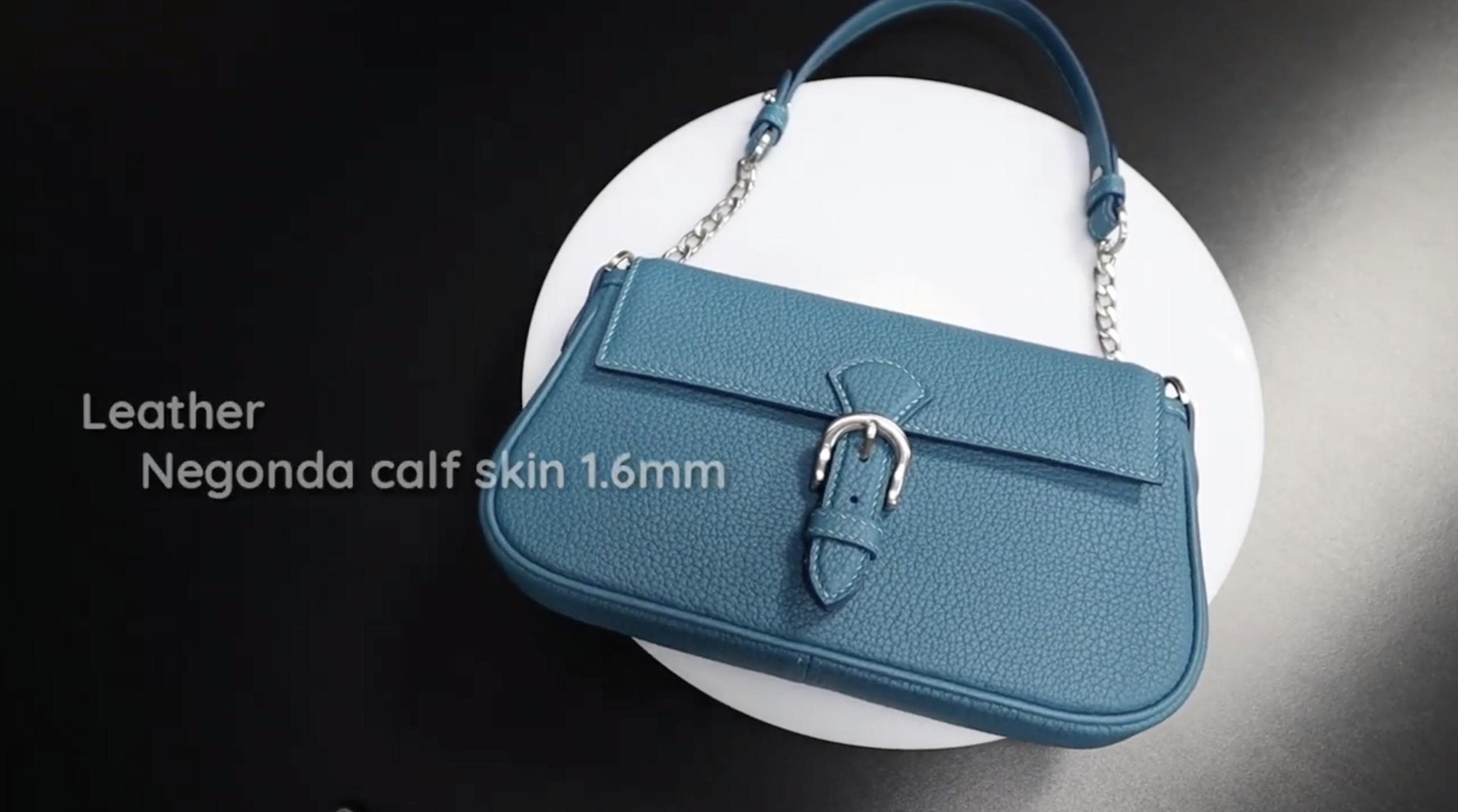 【手工皮具】女士蓝色挎包系列之2 手工皮具制作视频教程 Heal studio 出品 搬运转载