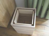 [森尼木工] 日式侘寂风 全桐木垃圾桶