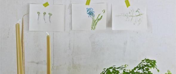 DIY教程:简单好玩的艺术叶印痕(叶拓 leaf prints)