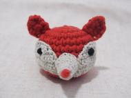 【小狐狸】原创纯手工毛线针插小摆件 可爱