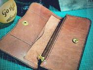 植鞣 红褐色 钱包