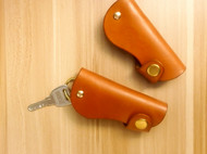 Butterfly 蝴蝶皮革手作 手工原创意多脂植鞣革钥匙包 手工钥匙扣