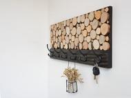 原创设计-北欧风实木衣帽钩电表箱装饰画美式玄关创意挂钩排钩壁挂饰品