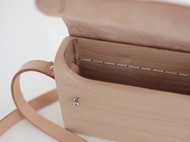 f2studio实木手工 头层植鞣皮单肩女包 个性通勤 复古斜跨牛皮包