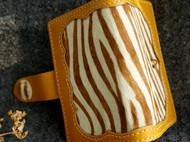 斑马纹马毛相拼 植鞣革名片包[斑马森林]