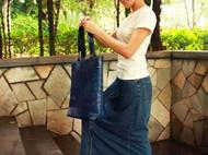 #【伽蓝手工】#呓语集:素颜 单肩双带手工皮长挎包(琴谱包) [FS-KB056]