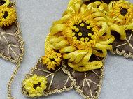 秋日金菊 | 绳塑艺术项链