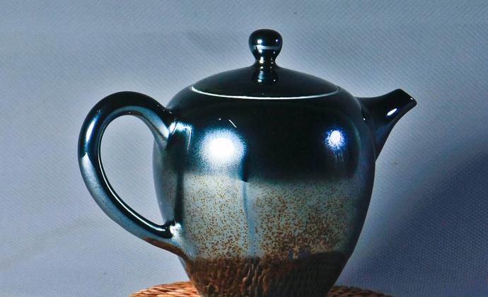 黑曜星辰 天目系 高温窑变茶壶