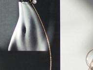 MQ奎妮小姐 行星轨迹/14k包金大圈天然珍珠长耳线