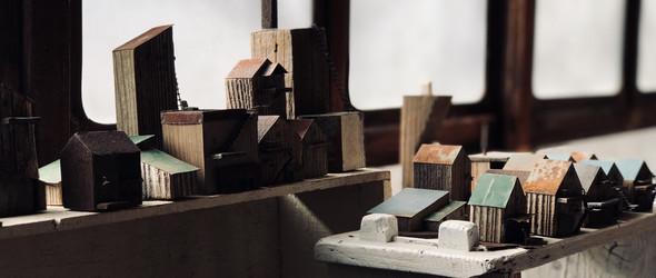 古木和旧物改造的雕塑 | noriyuki watanabe