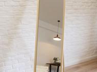 无印muji穿衣镜试衣镜 日式实木全身镜壁挂落地简约化妆穿衣镜子