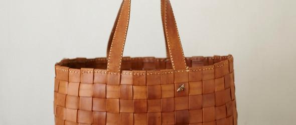 日本皮革工作室 - 刺绣小蜜蜂为LOGO的kurosawaの革製品