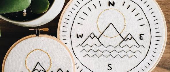 Danielle Conyers:刺绣の风景