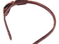 Ivenran 依雯然 纯手工制作 镶嵌蝴蝶结发箍 咖啡斑发饰