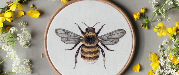 20岁的英国女学生Emillie Ferris刺绣小动物