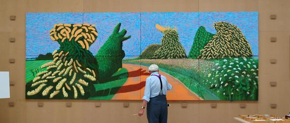 自然的喜悦   著名艺术家 David Hockney 笔下的美好自然