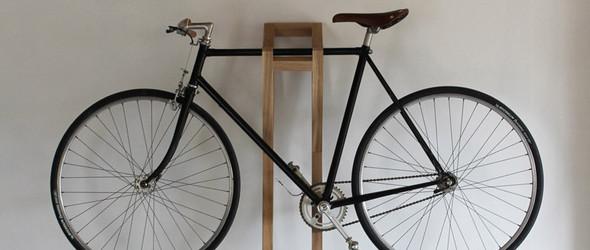 方便移动的木质自行车搁架:bike Hanger