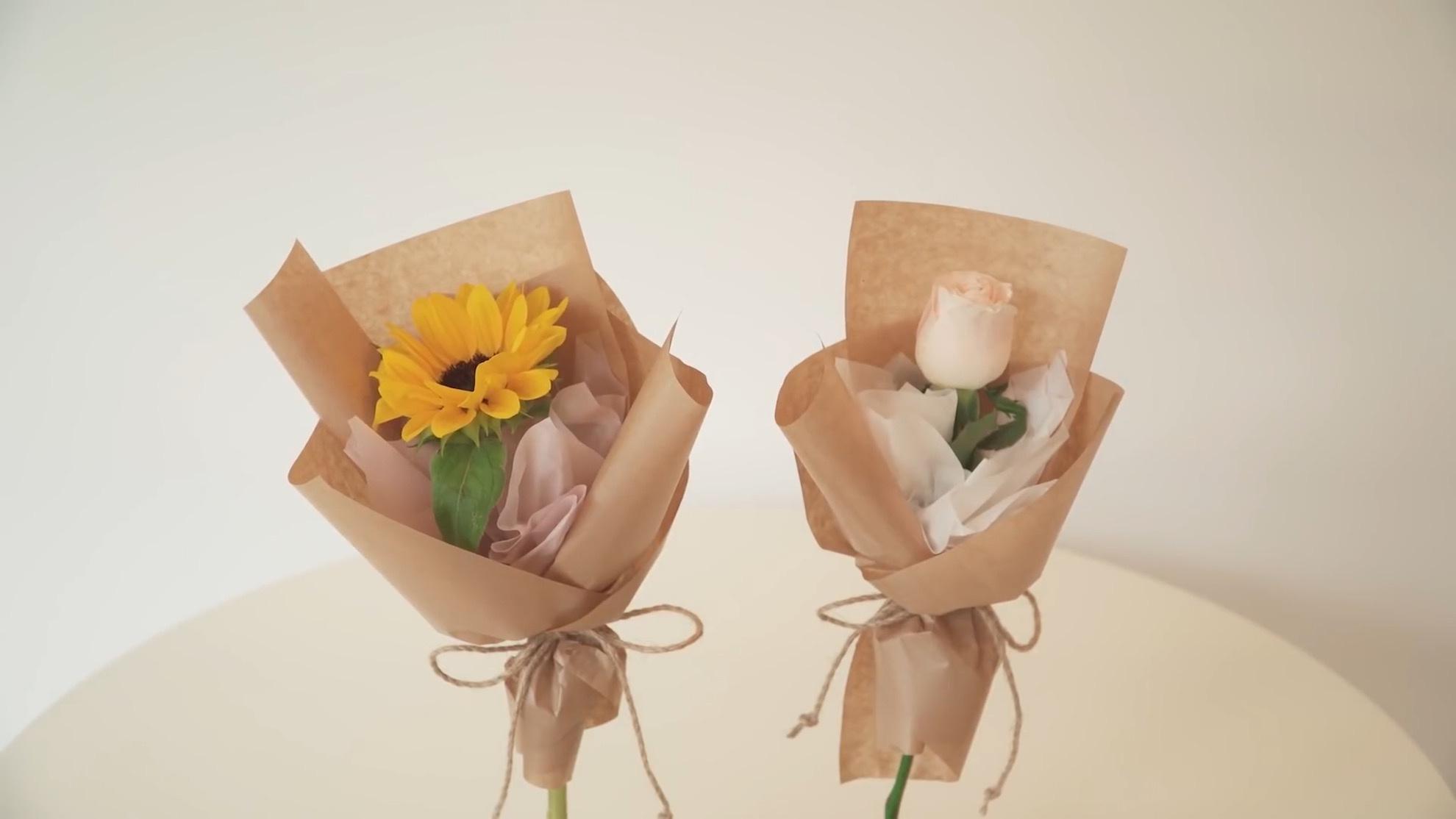 鲜花礼品包装DIY教程:鲜花花束教程 / 鲜花包花教程 / Flower Wrapping