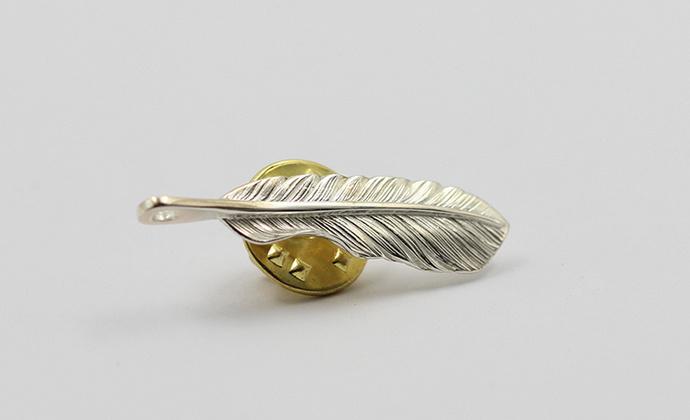 偶屿925纯银羽毛胸针