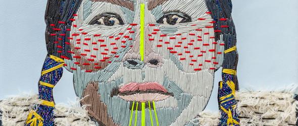 用刺绣和拼贴的方式创作丰富多彩的肖像画,艺术家Preta Wolzak的作品欣赏