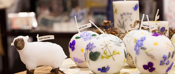 洋溢着春色和天然芳香的手工蜡烛--来自福间乃梨子