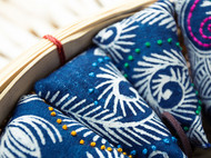 蜡染艾草香包纯天然香料车挂手工荷包防虫中药驱蚊去异味婴儿孕妇