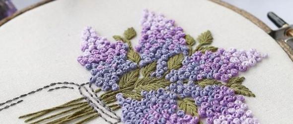 欧式花草绣之花朵的7种绣法