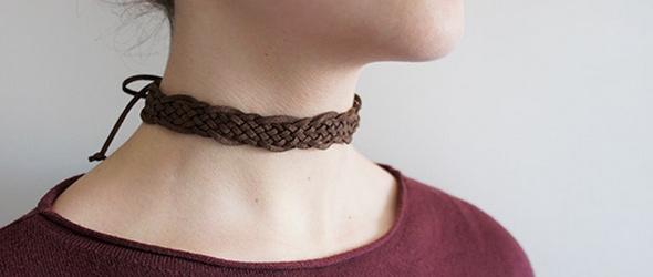 编织皮绳项圈(手链)diy教程图解
