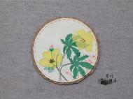 手工杯垫【花菱草】,看看花,喝喝茶吧~