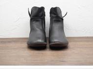 守根手工鞋 免费加绒 34.5-42尺码 赠吸汗手工鞋垫清洁剂 侧拉链软底套脚黑色女士短靴