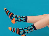 意品造物玩酷子弟Electric Leopard中筒袜