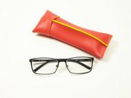 skin leather欧洲品牌面料,手工眼镜盒新颖大空间笔袋眼镜袋礼品