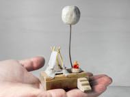 梦想星球帐篷篝火景观模型家居装饰艺术摆件摄影道具节日创意礼物