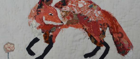模糊了贴花,拼贴与绘画边界的拼布艺术画:英国纺织艺术家 Mandy Pattullo 作品赏析