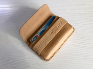 原创手工皮具原色植鞣革塑型卡包牛皮名片包