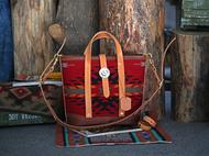集点手作坊 手工皮具纳瓦霍印第安 美国进口羊毛毯子挎包 托特包