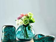 彩色花器摆件工艺品家居客厅摆设干花水晶玻璃花瓶水培瓶餐桌