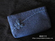 【囡囡手作】原创手缝手工布艺雅致蝶舞盘扣系列钱包