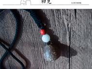 原创民族风天然金丝血丝菩提文艺毛衣链长款项链
