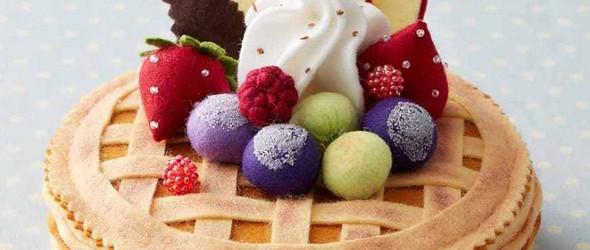 色香味俱全的羊毛毡蛋糕 | 南木裕子