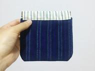 弹片零钱包 小杂物包 收纳小包包 手织粗布收纳包