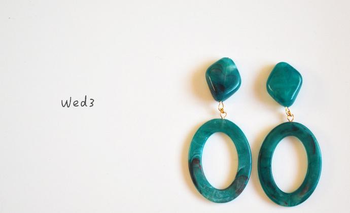 简约日系大理石纹耳环