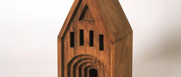 带着温暖感的迷你木制建筑模型 | 神山明