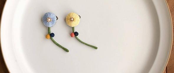 刺绣作家 Yumiko Matsuo 的立体刺绣配饰