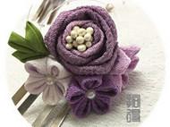 拾得•玫瑰人生(紫) 手工和风细工发簪发夹