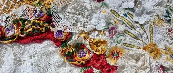 复古蕾丝的修复与重生 | 芬兰艺术家 Heidi Hankaniemi 的纺织作品